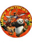 7.5 Personalised Kung Fu Panda 2 Icing or Wafer Cake Top Topper